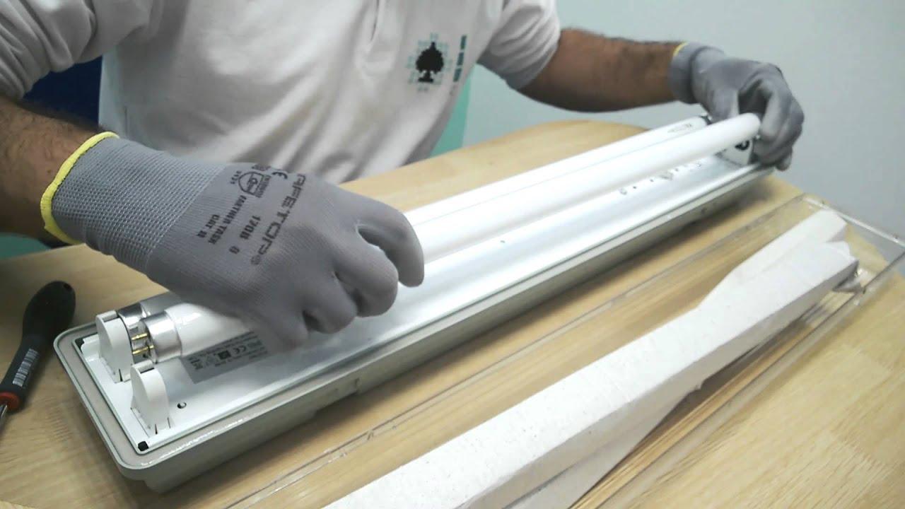 Instalar tubos led en luminaria con balasto electr nico - Como instalar lamparas led ...