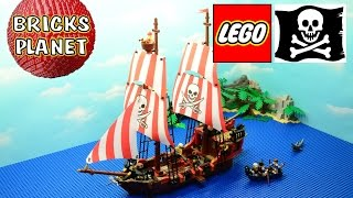 The Brick Bounty 70413 Lego Pirates - Review, Stop Motion, Time-lapse Build