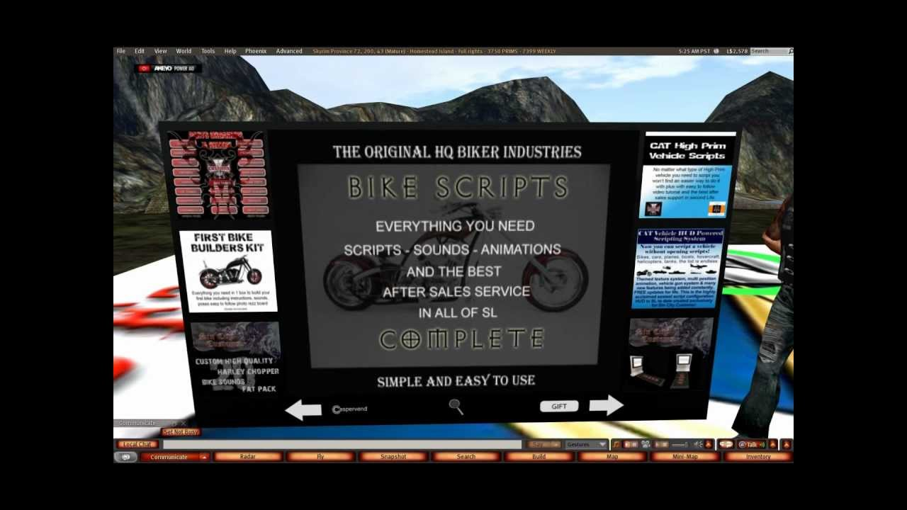 Second Life Sin City Customs Reseller Affiliate