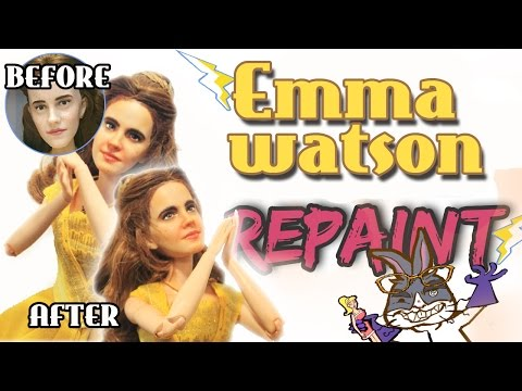 Emma Watson Disney Film Collections Doll Repaint Mad scientist Doll customs Episode 12