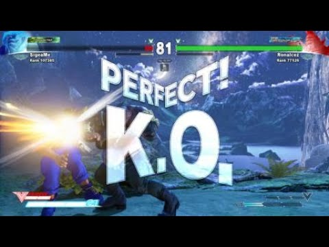 Street Fighter V Ranked Matches -  Nash vs Birdie (Perfect KO)