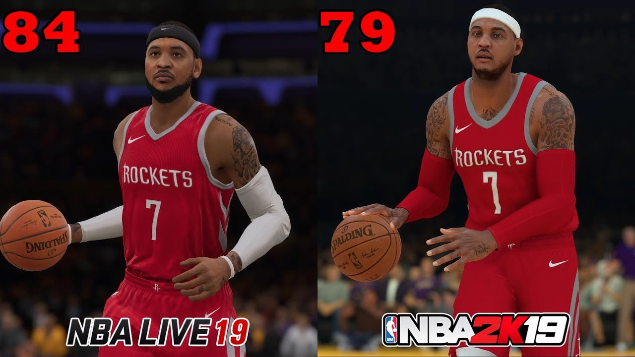 NBA 2K19 vs NBA Live 19 Ratings! Which Game Has More Accurate Player  Ratings??