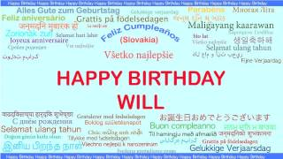 Birthday will will languages idiomas happy birthday sciox Image collections