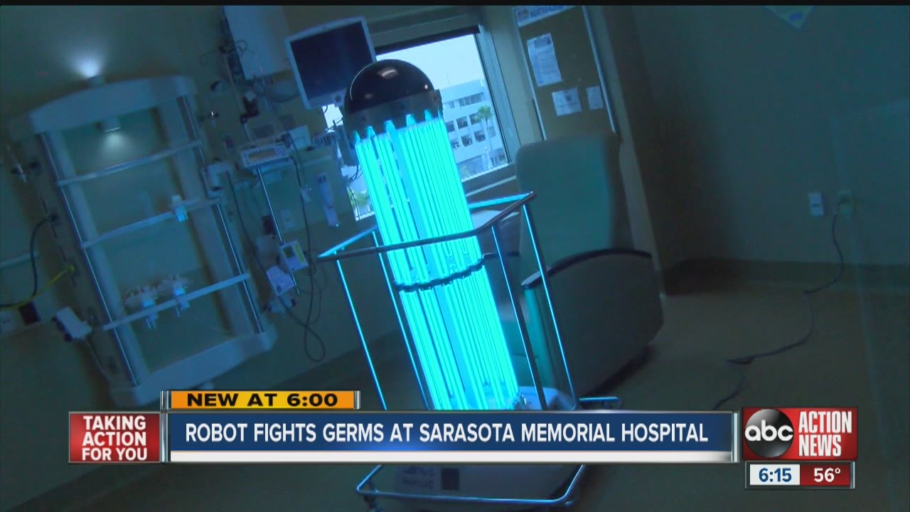 New robot fights germs at Sarasota hospital - YouTube