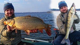 ТРОФЕЙНАЯ РЫБАЛКА на ОГРОМНЫХ РЫБ на спиннинг !! Рыбалка с лодки на Днепре на джиг 2019! Ловля щуки