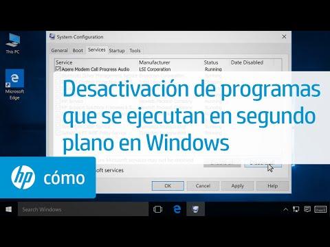 Desactivación de programas que se ejecutan en segundo plano en Windows | HP Computers | HP