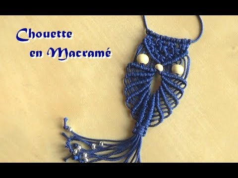tuto macrame comment faire une chouette ou un hibou interm diaire youtube. Black Bedroom Furniture Sets. Home Design Ideas