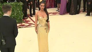 Kim Kardashian goes gold at Met Gala