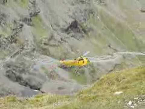 Sea King flypast at Snowdon summit.