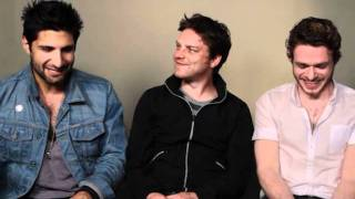 Sirens Cast Interview || Kayvan Novak, Rhys Thomas, Richard Madden