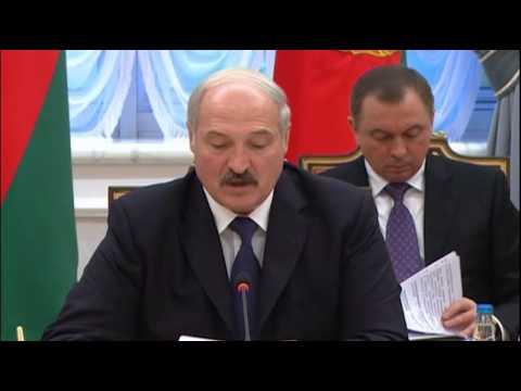 подписание договора о присоединении Армении к  ЕАЭС. поздравление А.Лукашенко  10.10.2014, Минск