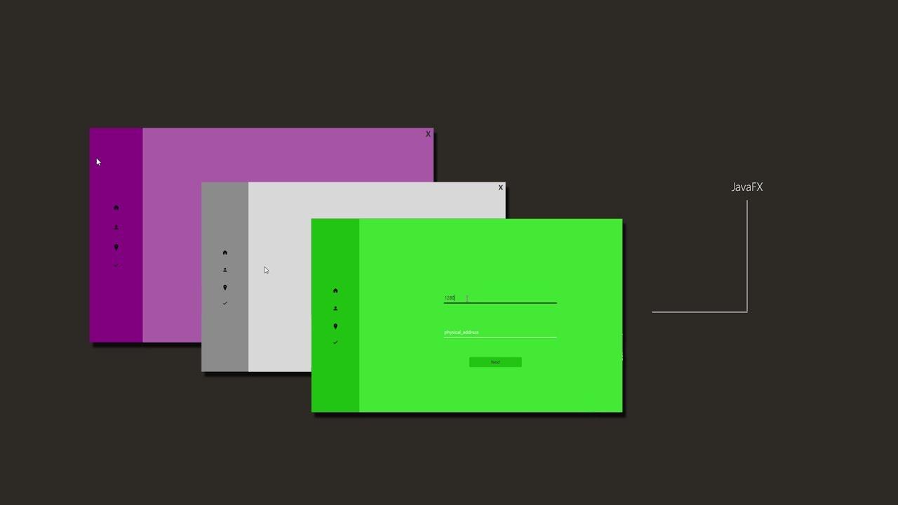 javafx ui - minimalistic design - youtube