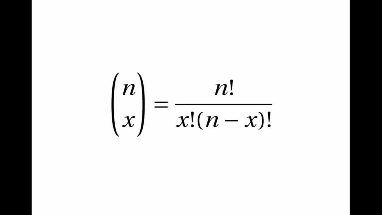 Proof of the Binomial Distribution Factorial Formula - YouTube
