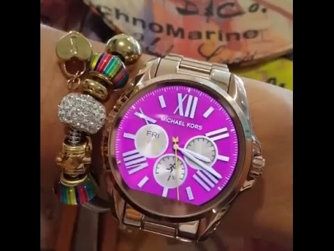 cedd90597257 Review Michael Kors Access Bradshaw Rose Gold-Tone Smartwatch - YouTube