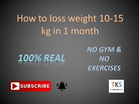 How to Lose weight 10-15 kg in 1 month. [Hindi /urdu]