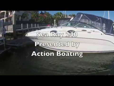 Sea Ray 240 Sundancer for sale Action Boating boat sales, Gold Coast, Queensland, Australia
