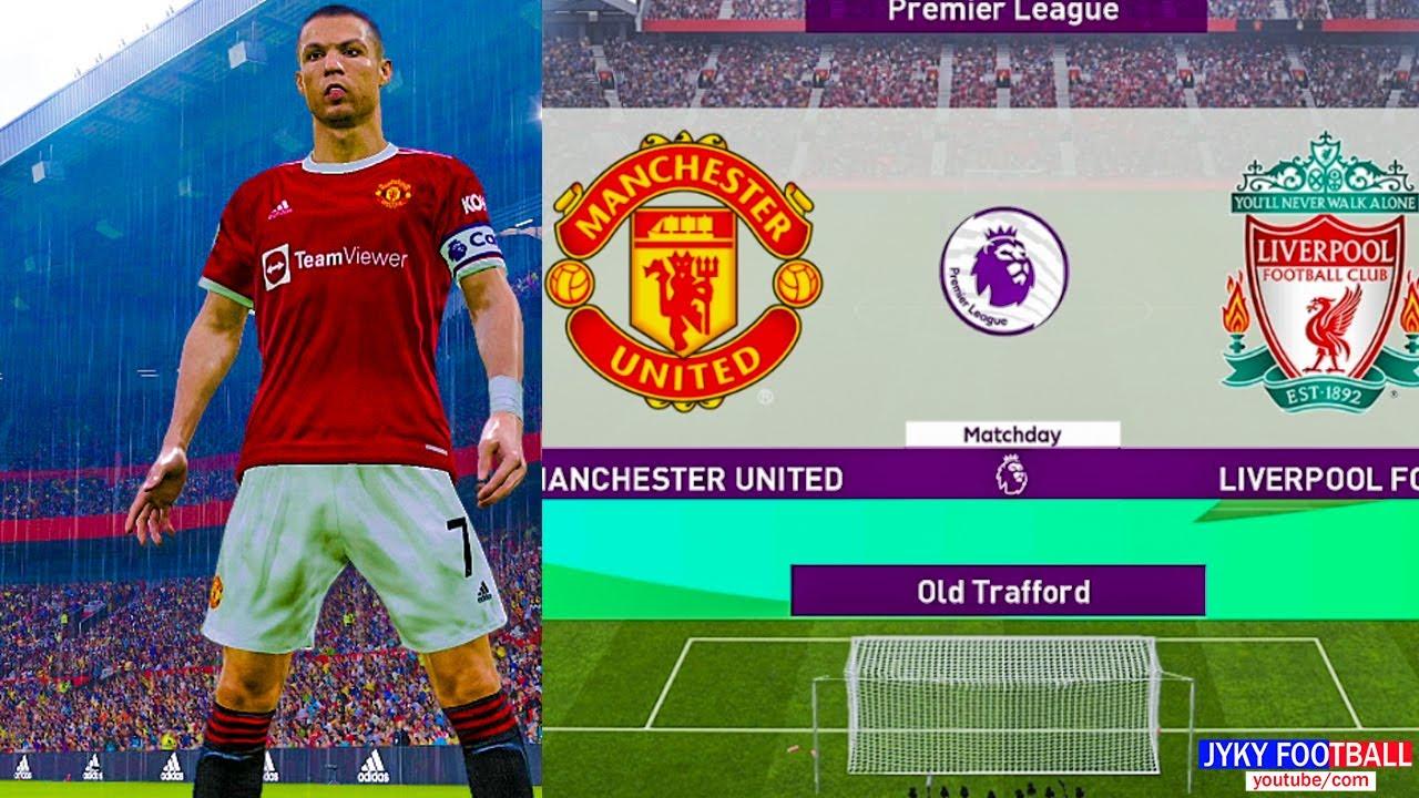 PES 2021 - Manchester United vs Liverpool Premier League - C. Ronaldo Free Kick Goal!