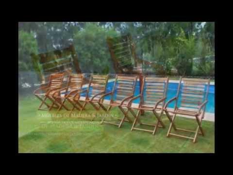 Banquetas plegables muebles de madera y jardin com for Banquitas de madera para jardin
