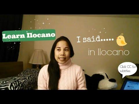 "Learn Ilocano: How To Say ""I Said"""