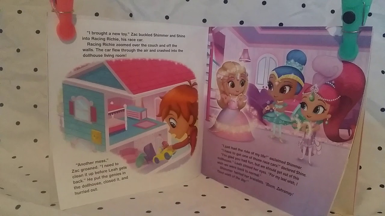 Read With Us Shimmer And Shine Leah S Dream Dollhouse Youtube