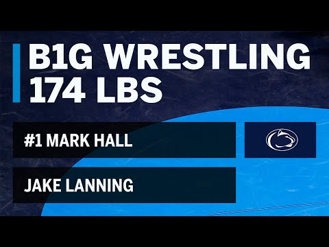 174 LBS: #1 Mark Hall (Penn State) vs. Jake Lanning (Buffalo)  | Big Ten Wrestling