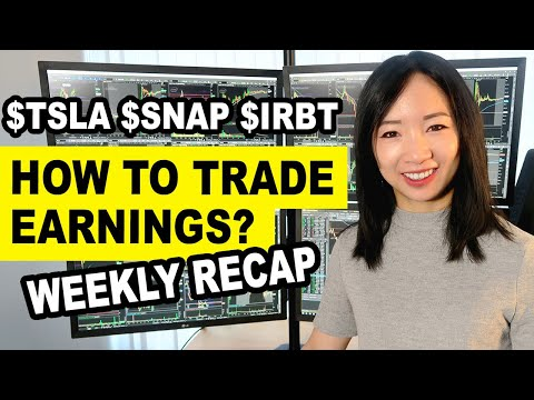 How To Trade Stock Earnings Gaps- $SNAP $TSLA Earnings Trade $ROKU $OBLN $PCG Weekly Trade Recap