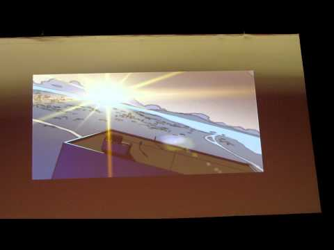 Makoto Shinkai shows the storyboard of the ef VN opening movie @ Japan Expo 2012