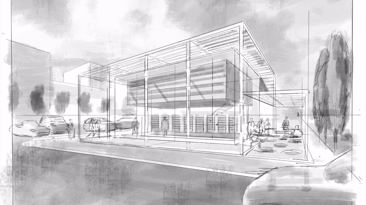 Architecture Drawing Ipad watch architect invent 1200 sf retail building concepts using