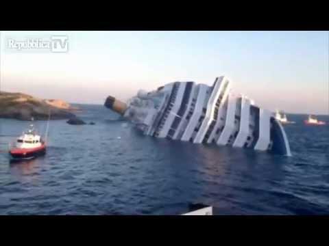 Costa Concordia accident video January 2012 Italy