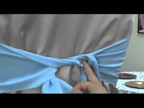second noeud comment faire un noeud sur une housse de chaise - Patron Housse De Chaise Mariage Gratuit