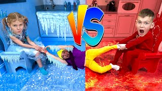 Hot vs Cold Challenge Children's Songs and Videos