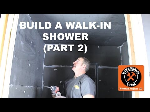 How to Build a Walk In Shower (Part 2: Wedi Panels)(Step-by-Step) -- by Home Repair Tutor