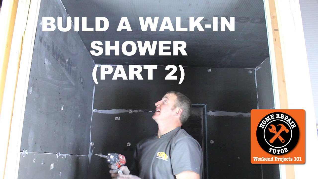 How To Build A Walk In Shower Part 2 Wedi Panels Step