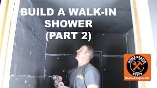 How to Build a Walk-In Shower (Part 2: Wedi Panels)(Step-by-Step) -- by Home Repair Tutor