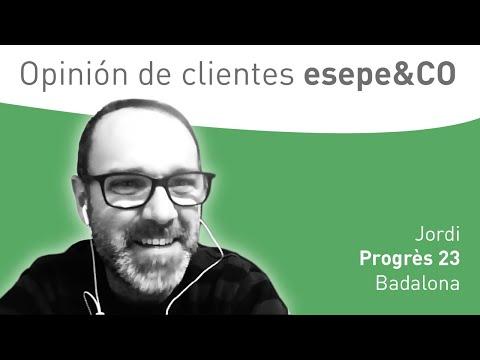 Conversación con clientes - Jordi de la promoción de la c. Progrès 23 en Badalona