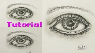 How to draw, shade a realistic eye with pencil | Step by Step Drawing Tutorial