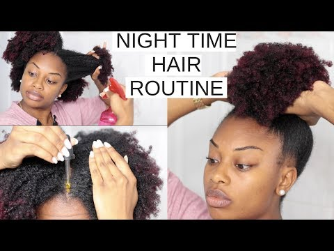 Night Time Hair Routine + No Breakage Overnight | Long Healthy Natural Hair | Journeytowaistlength