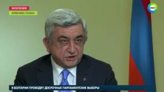 Саргсян о росте турпотока из России   МИР24