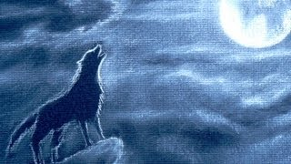 How to Draw a Howling Wolf - How to Draw Night Clouds With Full Moon
