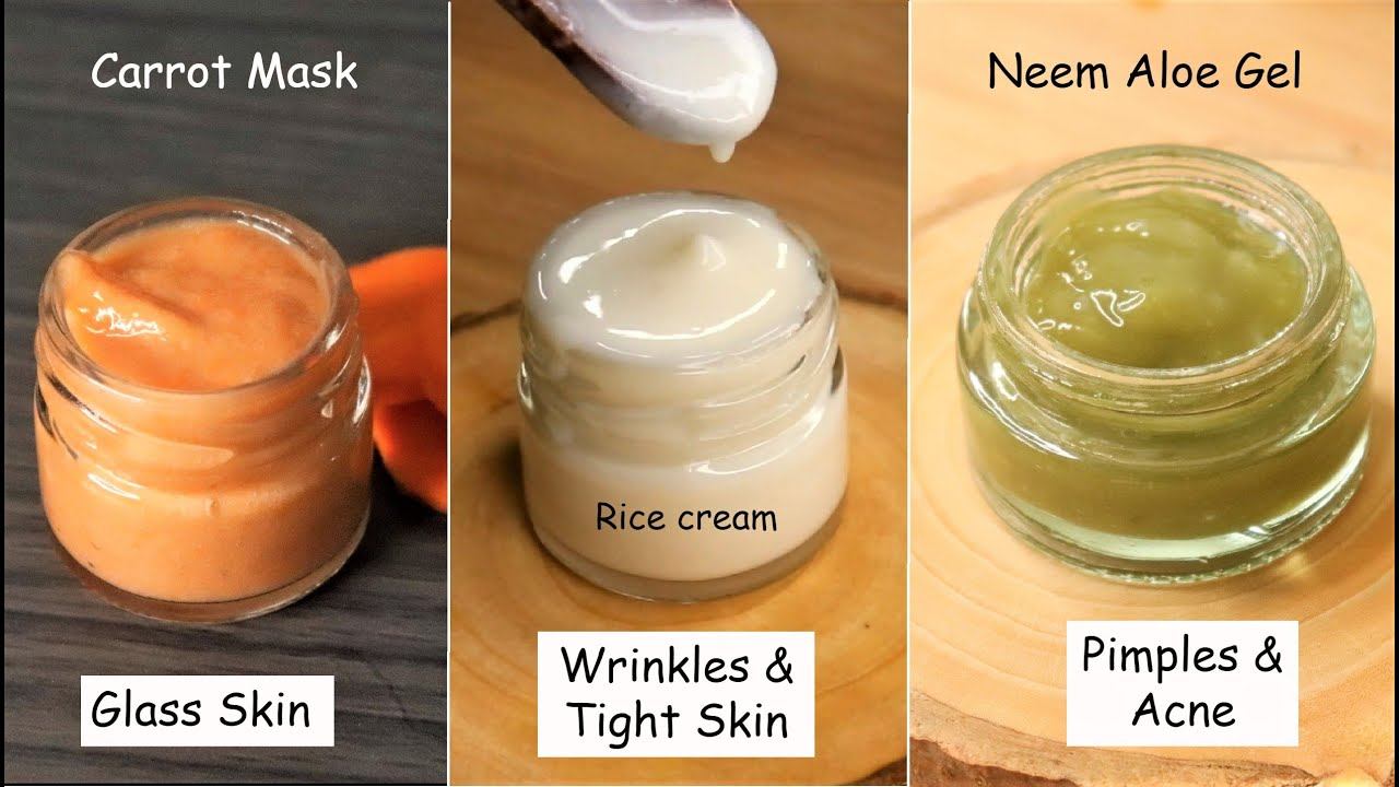3 Best Night Face Packs to Wake up with Clear & Glowing Skin - Aloevera & Rice Face Pack Glass Skin