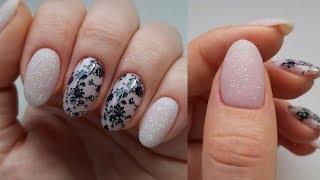 Ногти пирожки Тестирую Fiore Очень красивый дизайн ногтей со стемпингом Нежный маникюр