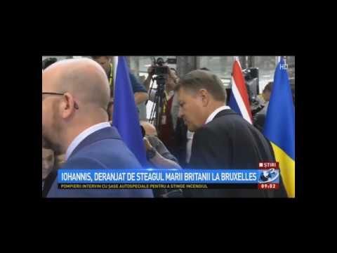 Klaus Iohannis a mutat steagul britanic la Bruxelles. Britanici furiosi