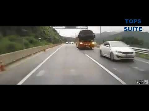 Подборка ДТП с ГИБДД,фурами,пешеходами и автобусами. Video alarms from the recorder