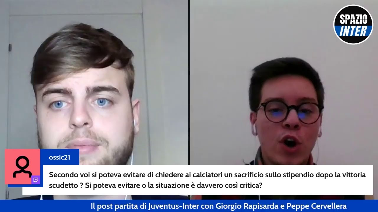POST PARTITA JUVENTUS-INTER