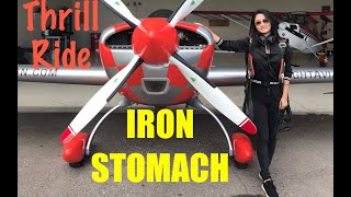 "She has an ""iron stomach"" flying the Extra 300"
