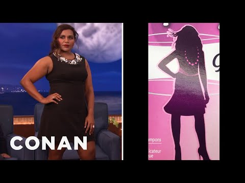 Is That Mindy Kaling On A Box Of Tampons?  - CONAN on TBS