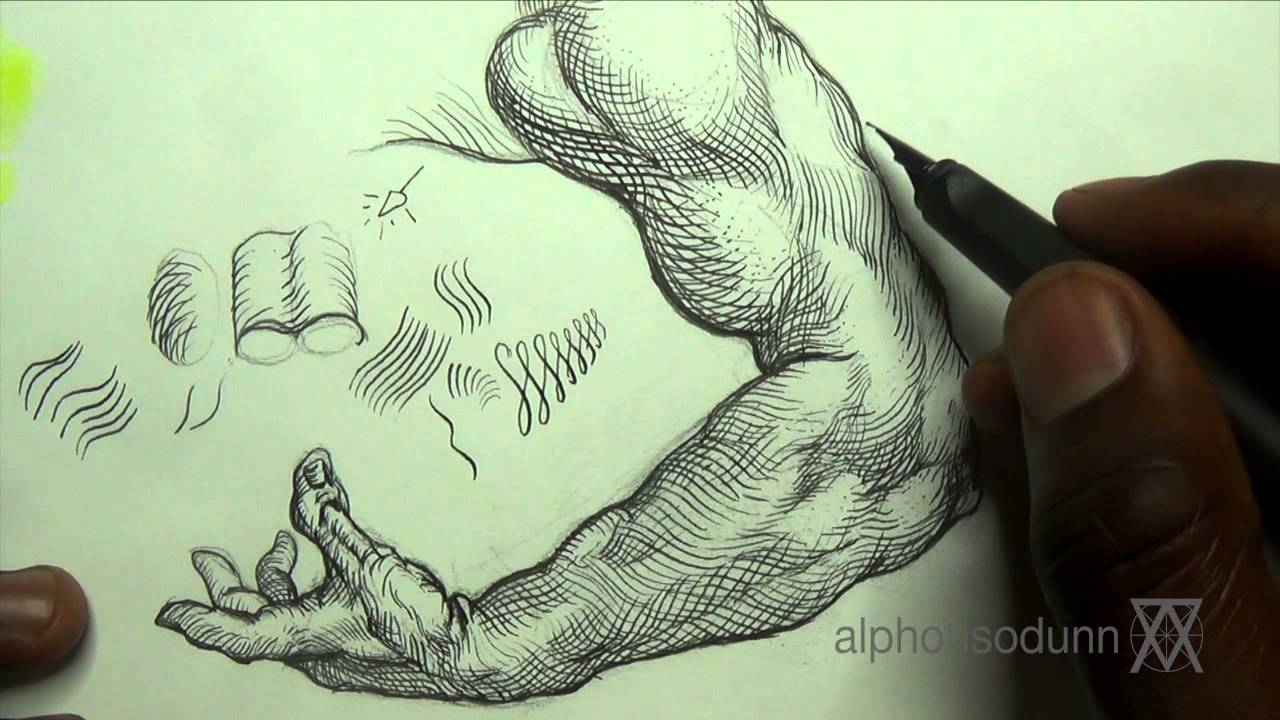 Pen ink drawing tips how add crosshatching to an arm youtube pen ink drawing tips how add crosshatching to an arm ccuart Image collections