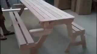 panchina tavolo.