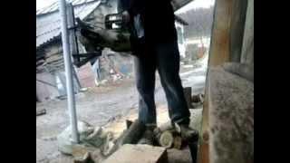 Homemade Log Holder For Chainsaw : Suport Busteni Pentru Drujba