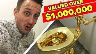 We Used An 18K Gold Toilet